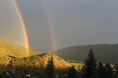 Double Rainbow over Valley Floor